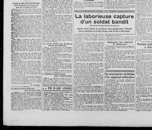 Le Réveil du Nord 7 décembre 1923 | RetroNews Le site de