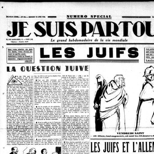 Je suis partout 15 avril 1938 - (15-avril-1938) | RetroNews - Le site de  presse de la BnF